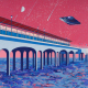 Painting of Boscombe Pier