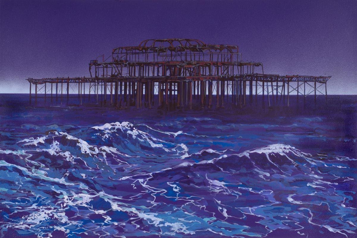 Painting of Brighton West Pier