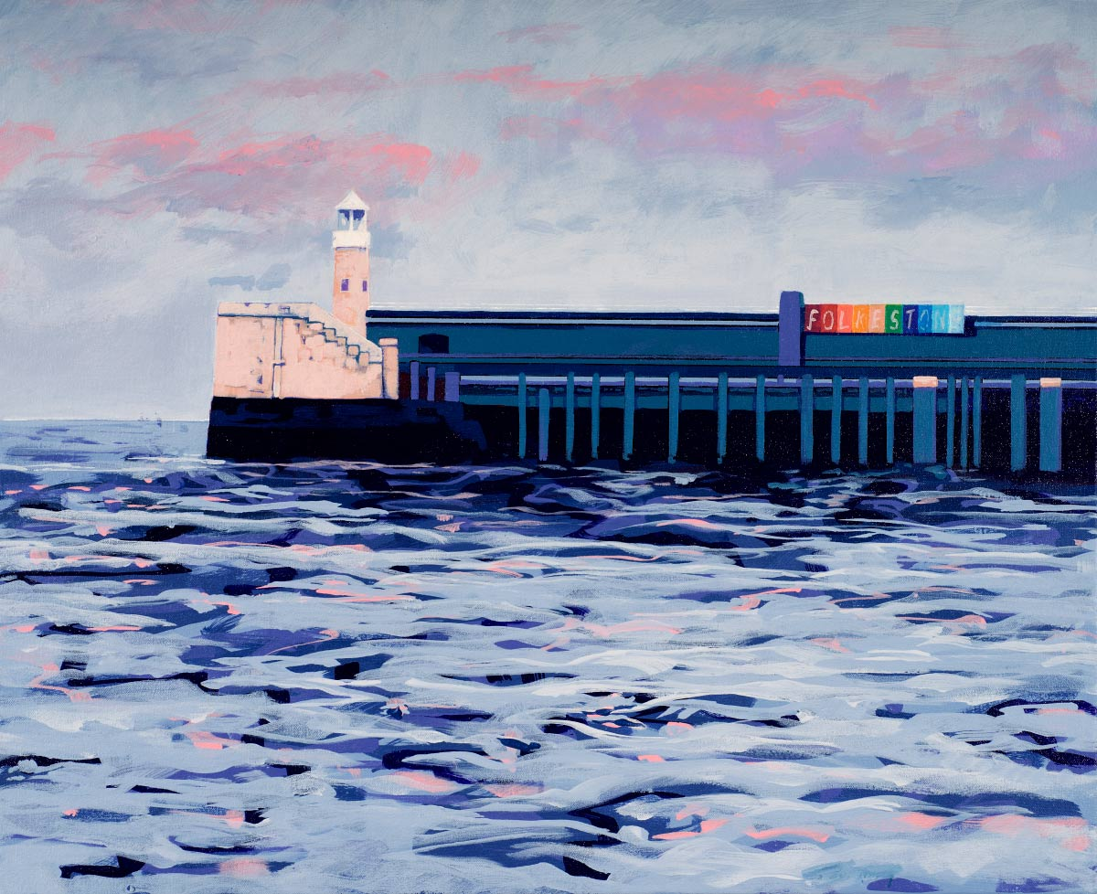 Painting of Folkstone Pier
