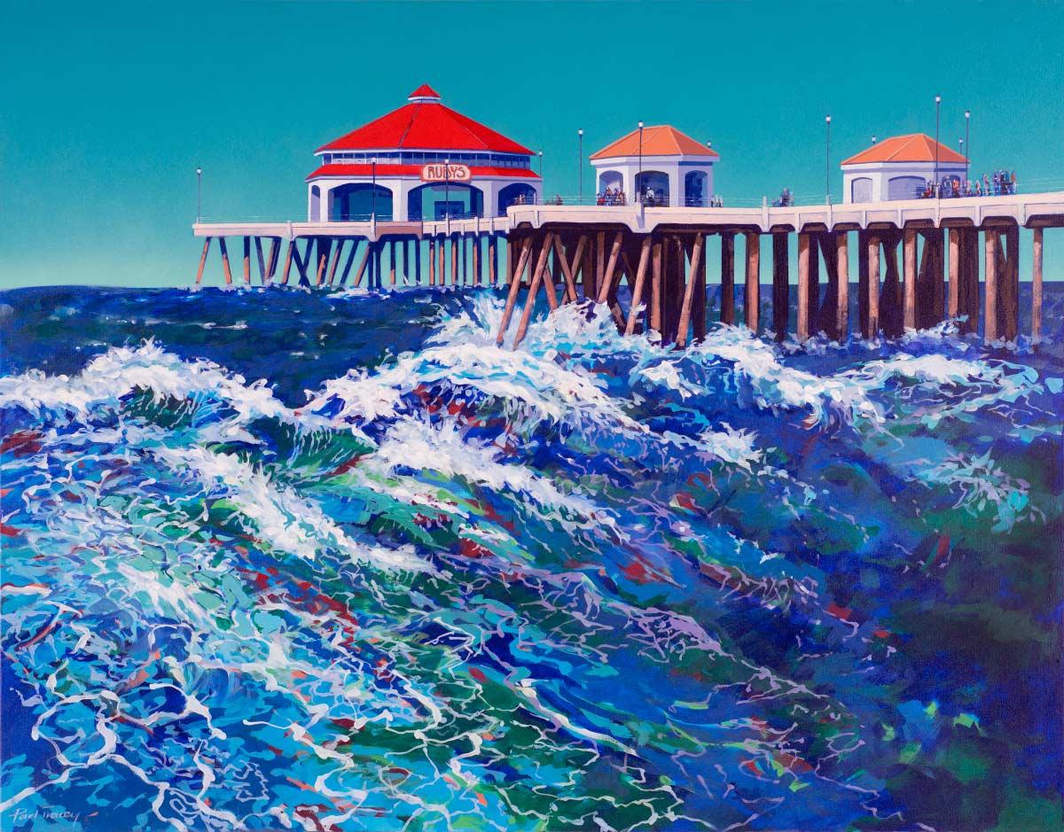 Painting of Huntington Beach Pier