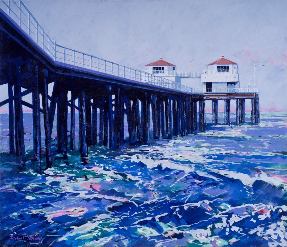 Painting of Malibu Pier