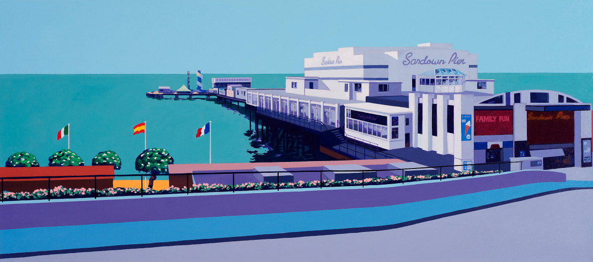 Painting of Sandown Pier