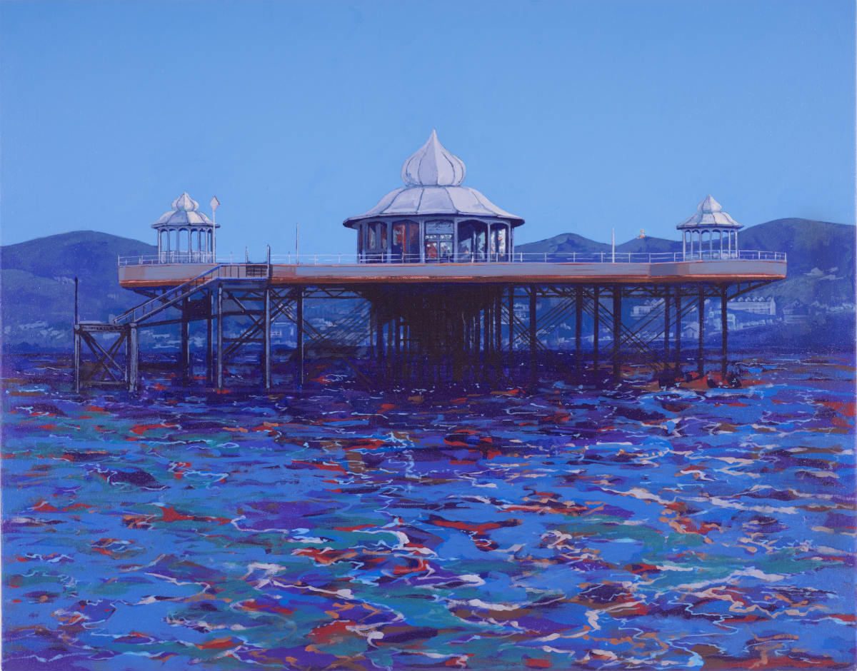 Painting of Bangor Garth Pier